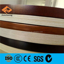 2mm pvc edge banding / wood grain pvc edge banding tape / rubber countertop edging strip