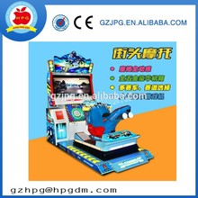 One player driving racing car arcade game machine /street motorcycle simulator