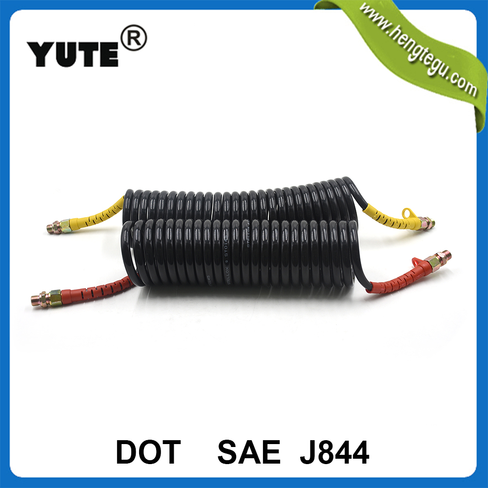 SAE J844 red blue black nylon truck trailer air brake coil hose with DOT approved