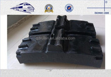 Low Friction Train Wheel Composite Brake Block Cast Iron / Locomotive Brake Shoe