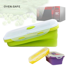 Elegant, Fashionable & Stackable Food Storage Containers, Silicone Collapsible Lunch Bento Box