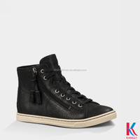 New black cow leather lace up men shoes pictures for zipper