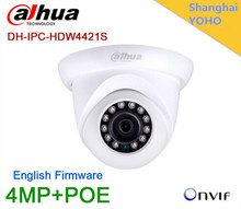 Wholesale Original Dahua IPC-HDW4421S IR IP Camera 4MP Full HD Network IR Dome POEsecurity CCTV DH-IPC-HDW4421S