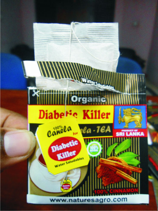 Pure Ceylon DIABETIC KILLER TEA - 100% CINNAMON TEA
