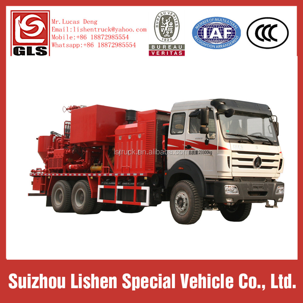 3 Axles 10 Wheels 6*4 Beiben 3Cement Pumping Truck For Oil Field Use 336 hp Cement Truck for Fixed Well Speccial Truck Lishen