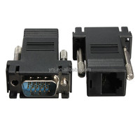 Hot sale Extender VGA To RJ45 Adapter male to female