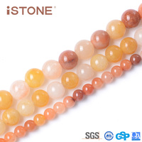 Istone 7MM Natural Quartzite Round Loose Beads Stone For Jewelry Making