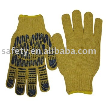 T/C knitted gloves work glove with PVC dots