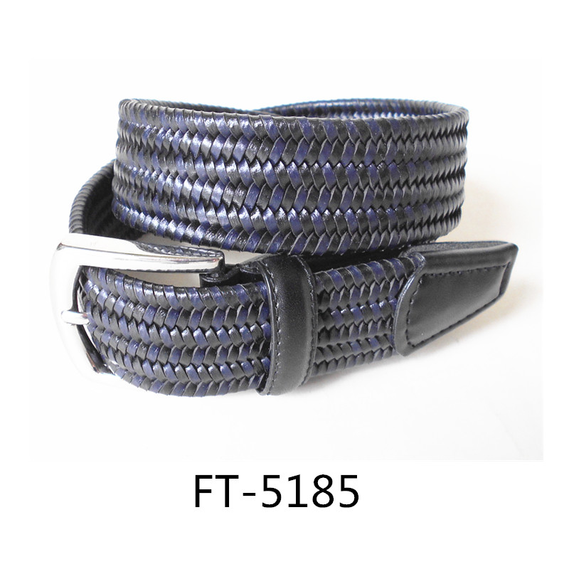 German Import Bonded Leather Braided Belts Quality Leather Braided Belts For Men