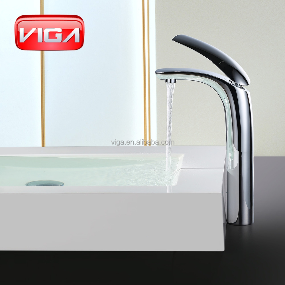 Brass basin mixer tap cold and hot water