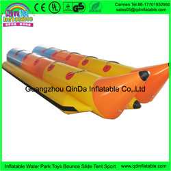 Guangzhou Experienced Factory Sport Equipments Producing Inflatable Toys Double Tubes Flying Banana
