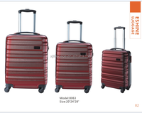 Men and wemon for travel with matching piping color abs luggage suitcase