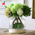 Removable Wood Base and Glass Body Vase For Flowers Decoration
