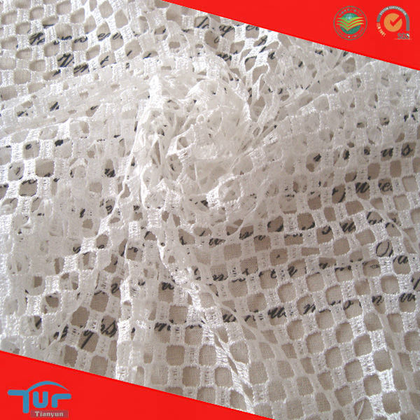 Embroidery Air Mesh Endurable Polyester Fabric for Sportswear