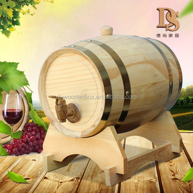 15L <strong>Oak</strong> <strong>Barrels</strong> No Lining Personalized logo Wooden Aging Wine <strong>barrel</strong>