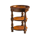 Wooden round sofa side table