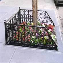 Decorative Powder Coated Tree Guard Welded Fence