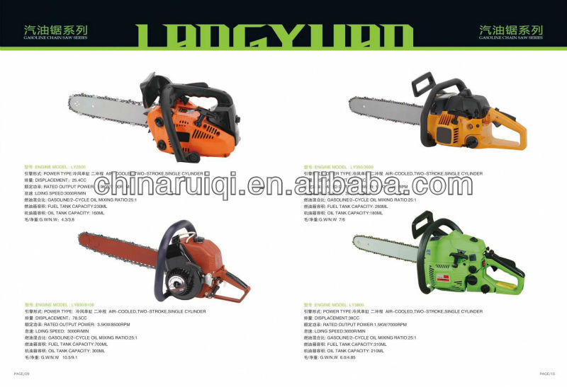 Chinese big power gasoline grass cutter garden line trimmer 52cc engine tools