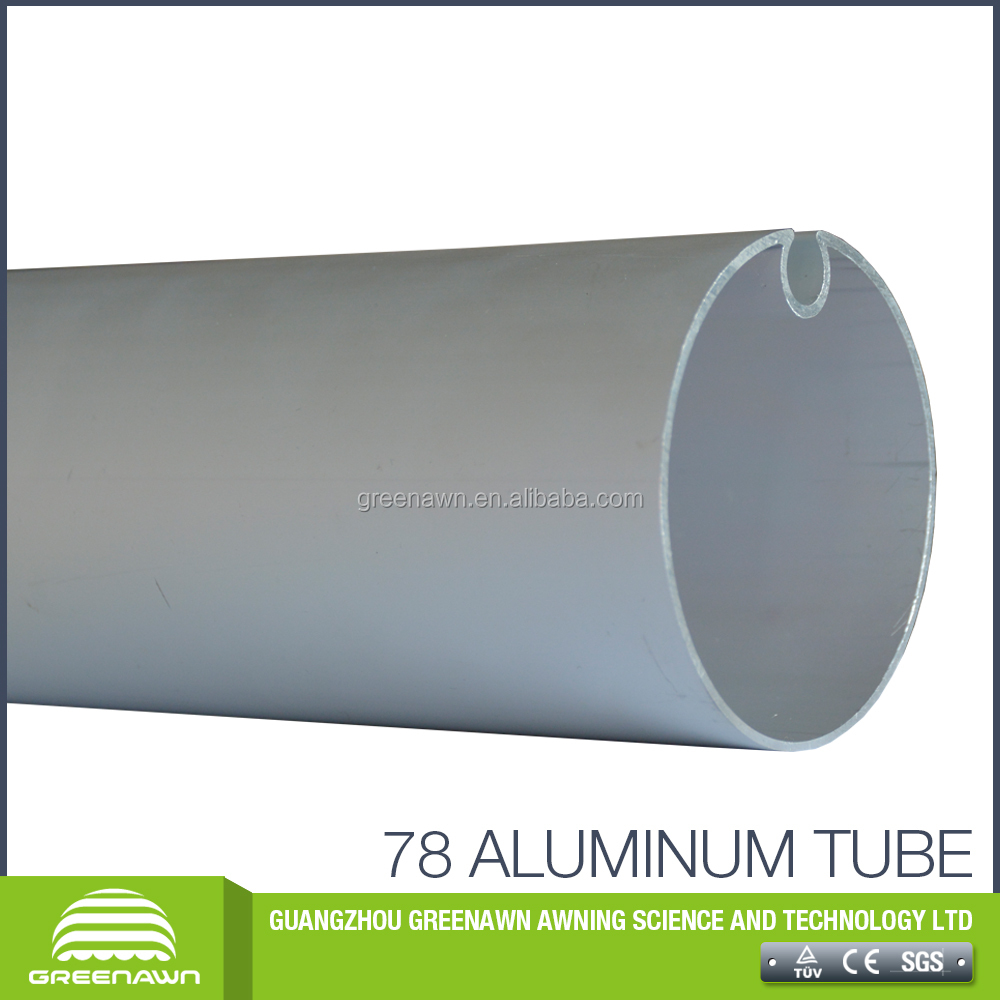 Roller tube manufacturer 2017 hot sale awning roller tube, stainless steel aluminum round tube roller for awning