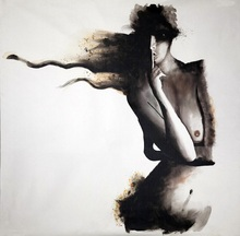 SH132 Modern Home Decoration Cheap Wallpaper Sex Chinese Girl Nude Painting