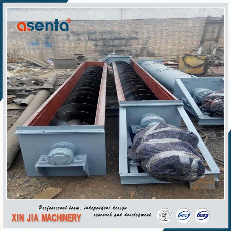 cement plant auger 219mm shaftless screw conveyor