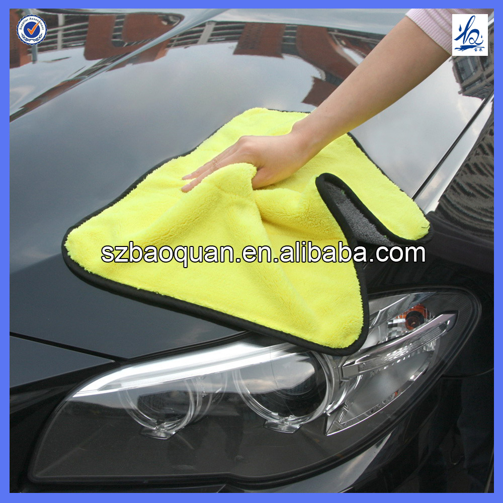 2016 new arrival cheap coral fleece microfiber towel car cleaning cloth