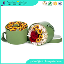 paper flowers box craft kraft paper tube cardboard round gift box for rose flower packaging