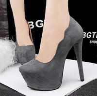 SW1054 Comfort round head platform thin high heel 14cm women shoes