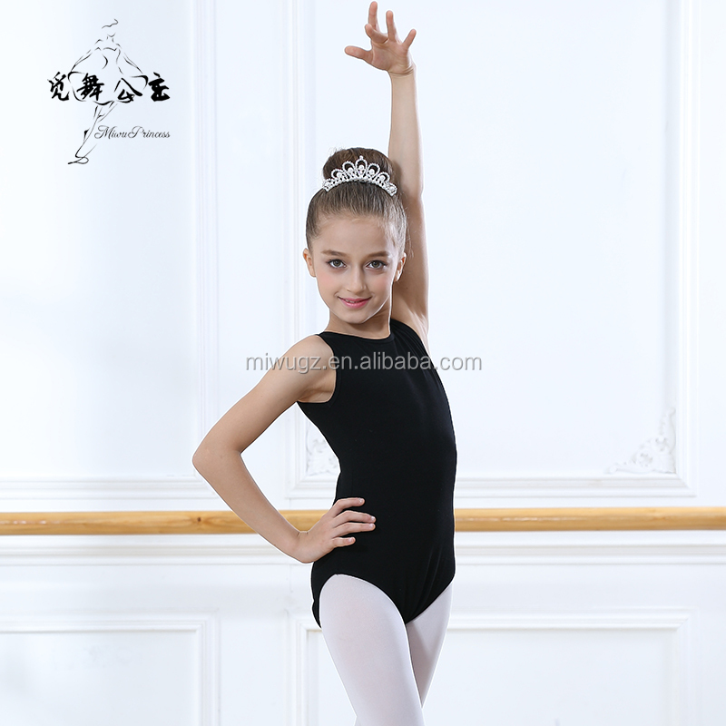Teenagers' Double Straps Black Princess Ballet Costume