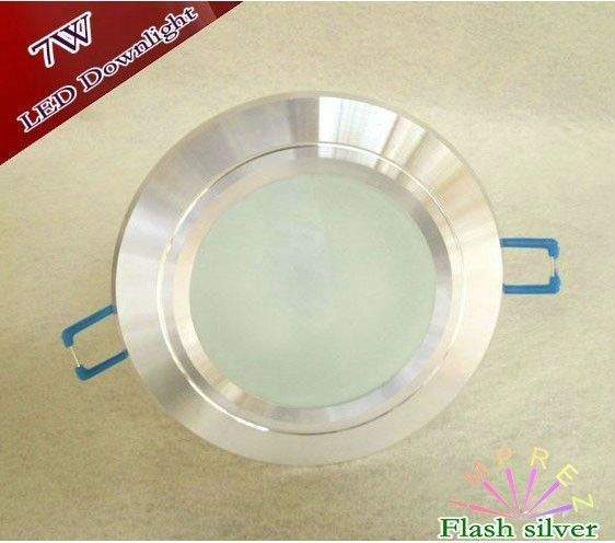 7W Dimmable Led Downlight Led ceiling light/LED Recessed Downligh Flash Silver