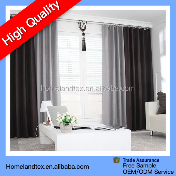 Luxury Thermal soft Blackout Curtains for hotel