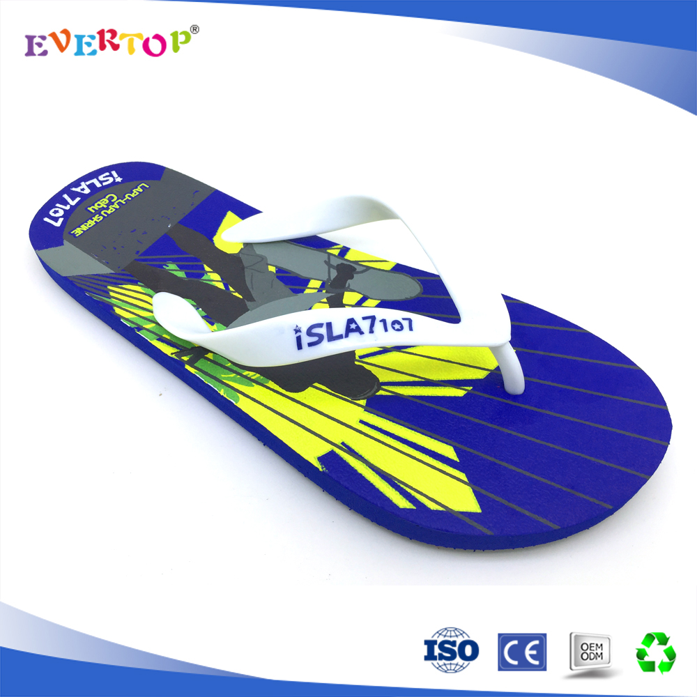 2017 custom and cheap wholesale new printing design mens flip flops big size slippers beach sandals Flip-flops shoes