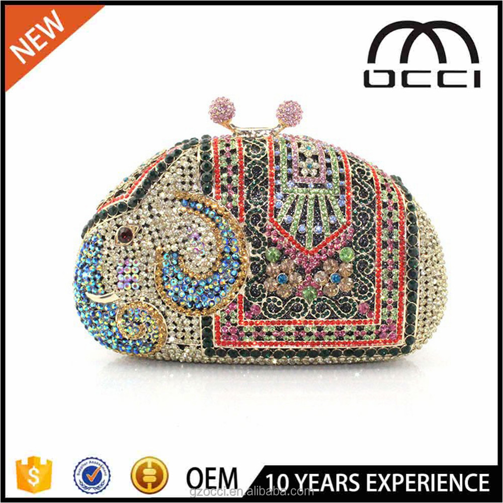 fashion design evening hand purse for ladies handmand crystal purse SC2305