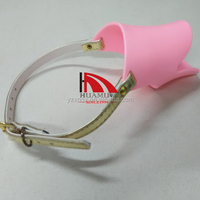 dog mouth cover 120 mm pink dog muzzle