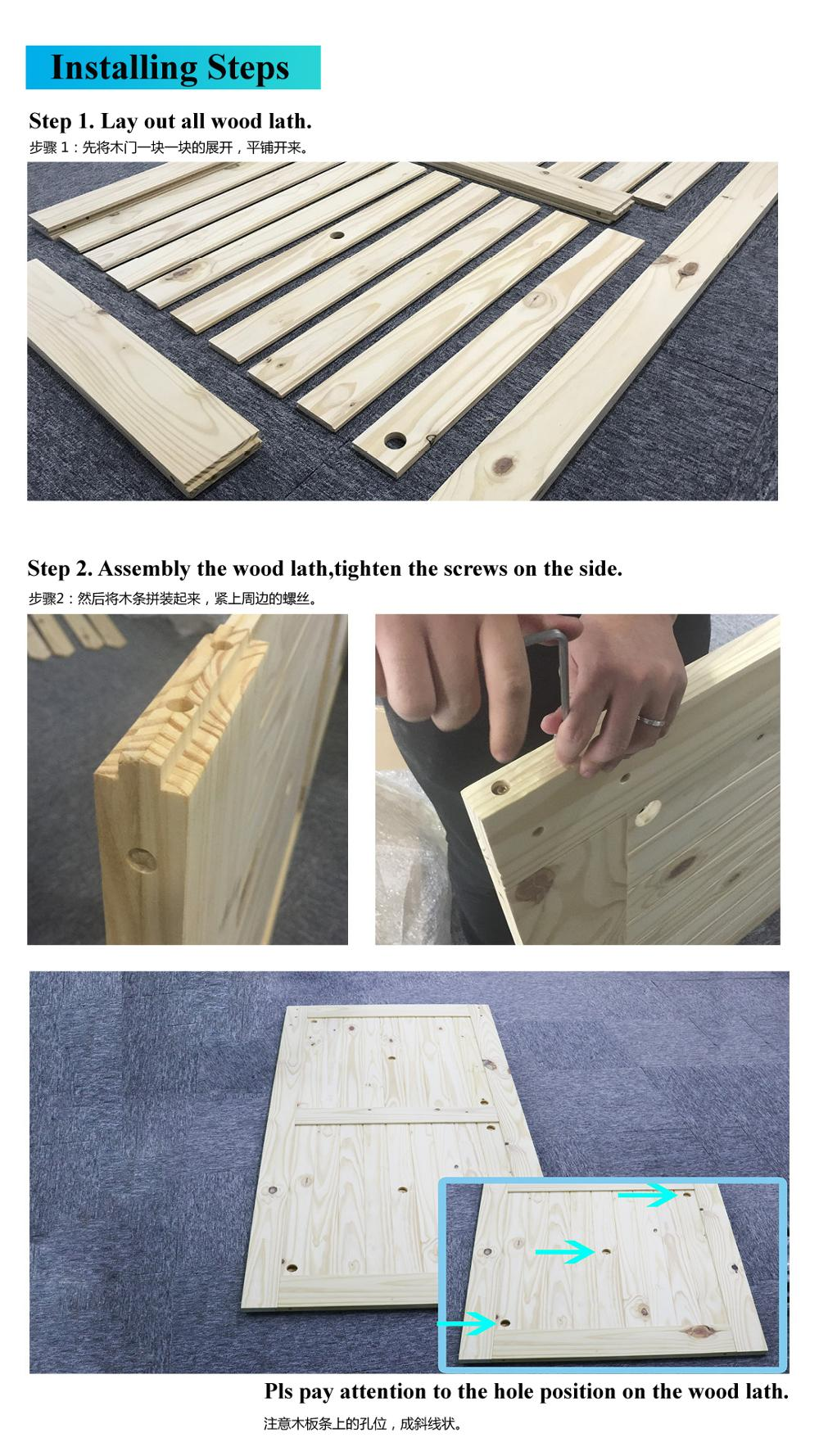 DIY Knotty Pine Barn Door Kit Wooden Door