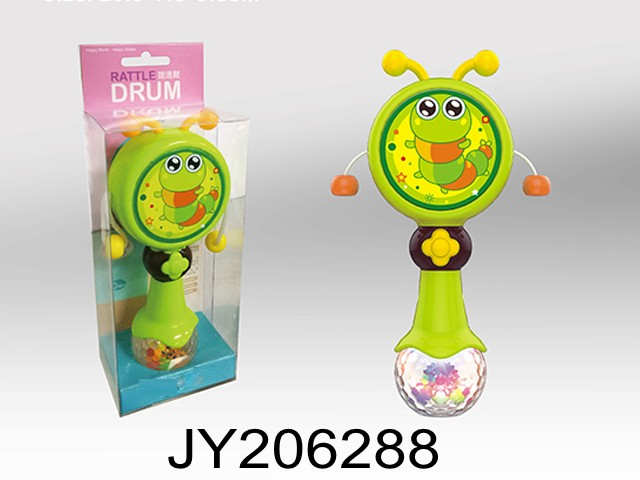 Cartoon shaking ringing stick plastic toys baby rattle drum baby toys baby instrument toys