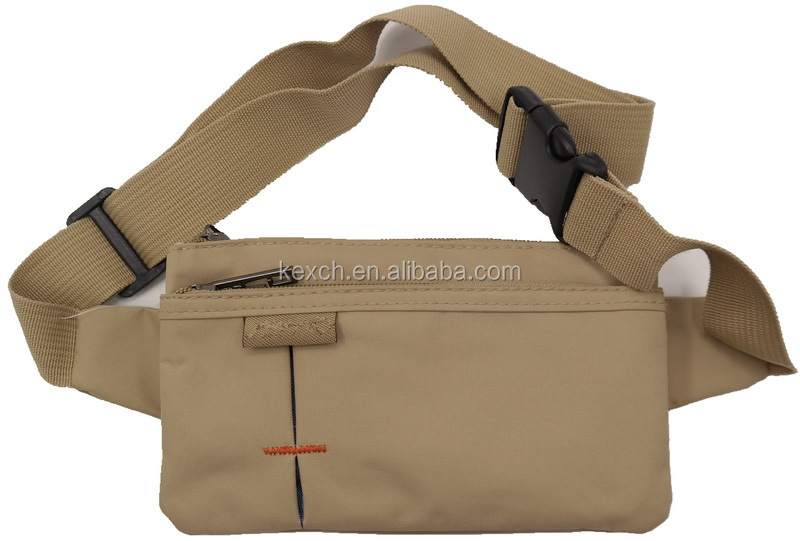 Superior quality custom made canvas running waist bag / pouch