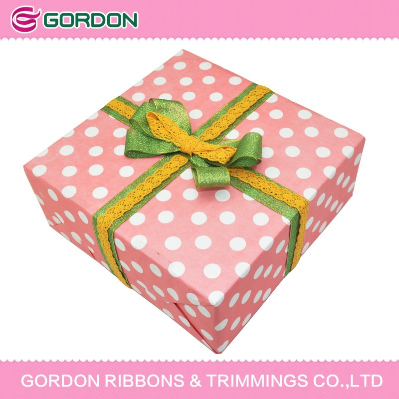 2015 NEW packing bow by Tinsel ribbon & cotton lace