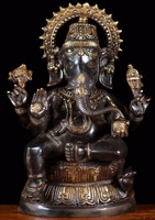wholesale buddhist altar table metal craft ganesh statues for sale