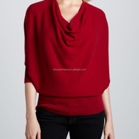 Ladies Oversized Cowl Neck 100 Cashmere
