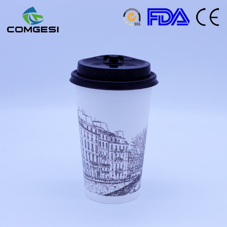 Good/high quality disposable wholesale/bulk custom logo/color double/single style hot/cold paper coffee cup food grade