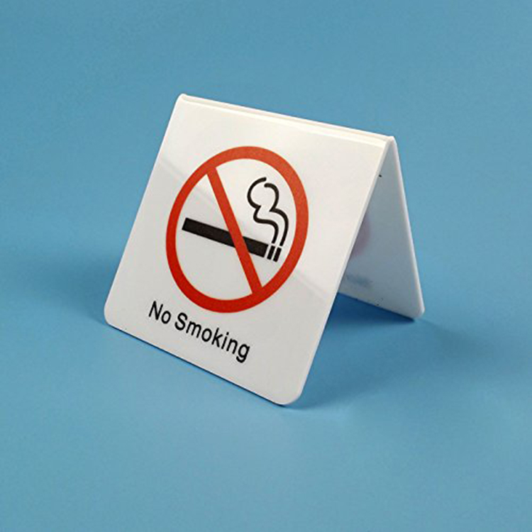 Acrylic no smoking sign holder