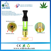 Newest medical healthy no glue wickless thc ceramic coil 510 tank cbd oil cartridge