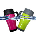 Plastic Termo Mug for Drinks, PP Hard Plastic Mugs Water Cup
