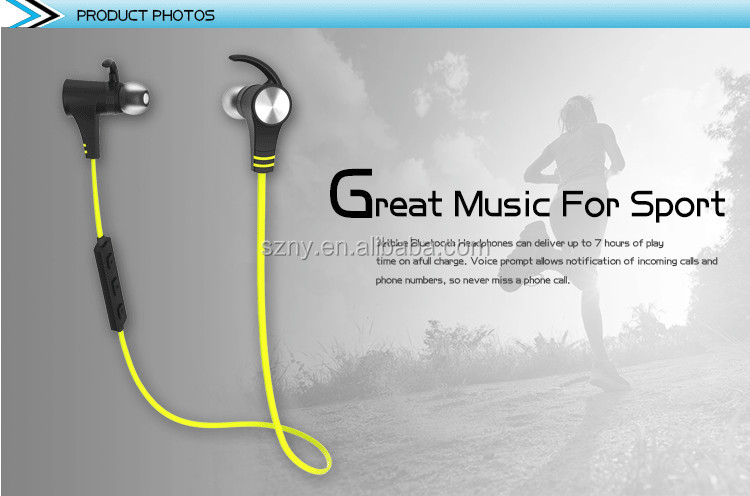 Magnetic wireless earphones with build-in Mic wireless stereo blue tooth headset