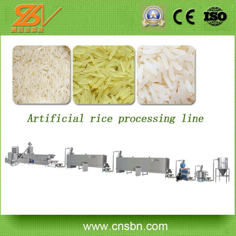Broken rice reused manufacturer Extruded Rice Processing Line/Rice Pop Machine