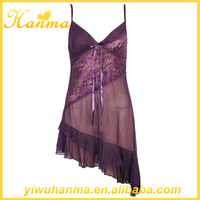 Unbelievable cheap sexy lingerie women purple baby doll nighties
