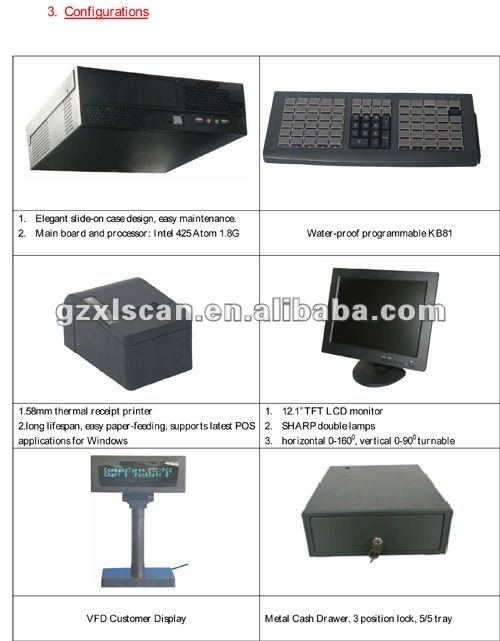 China High Quality Point Of Sale POS Dealer POS System Billing Machine