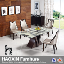Hot Sale modern Dining Table rectangle Marble dining table and 4 seaters