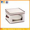 Foldable Fabric covered flatware storage box with lids